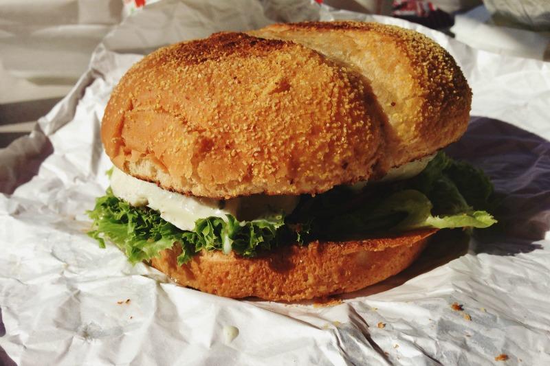Hot Bite Halibut Sandwich | MALLORIE OWENS