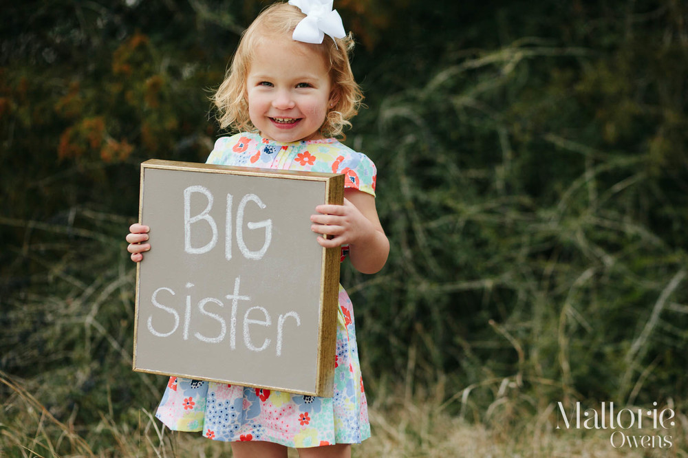 Dallas Family Photographer | Big Sister Photo Shoot