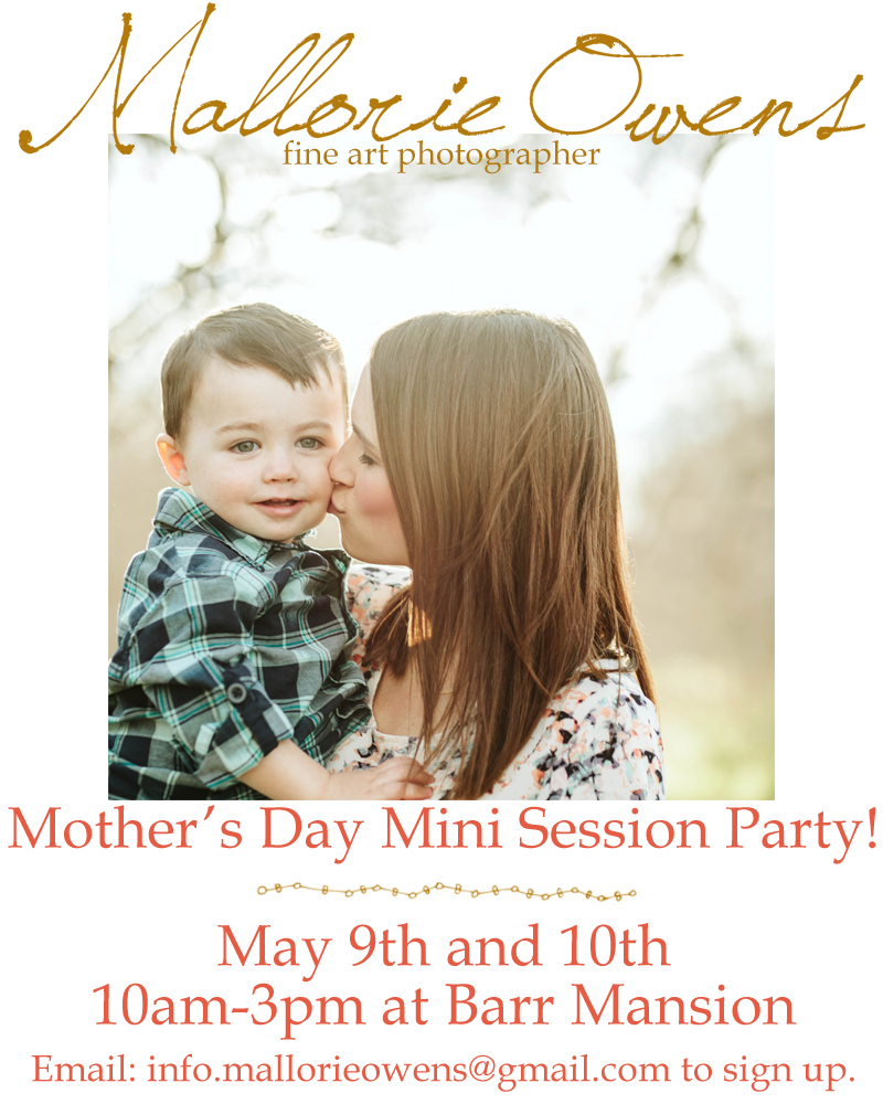Mother's Day Mini Sessions and Party in Austin, Texas | MALLORIE OWENS