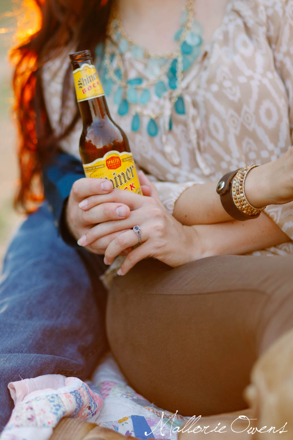 Shiner Beer Engagement Photography | MALLORIE OWENS