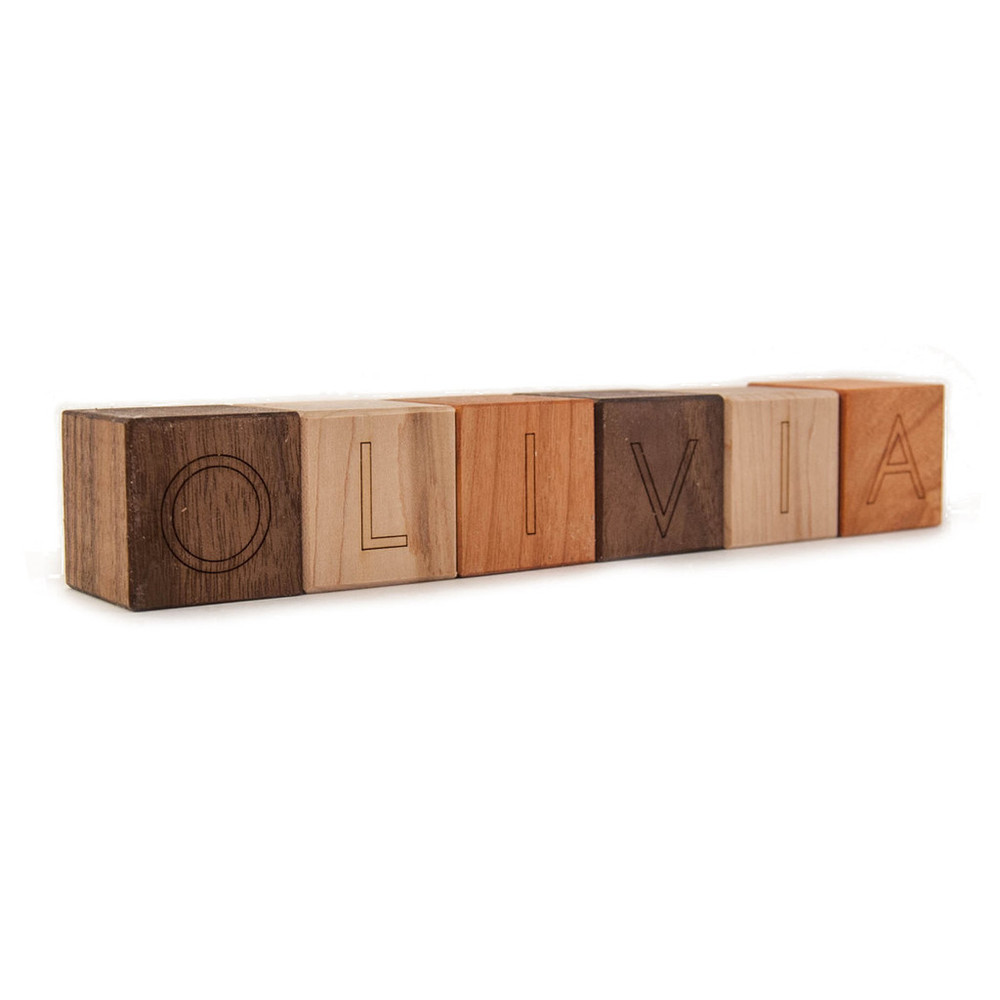 Personalized Name Block Wooden Toy by Little Sappling Toys | MALLORIE OWENS