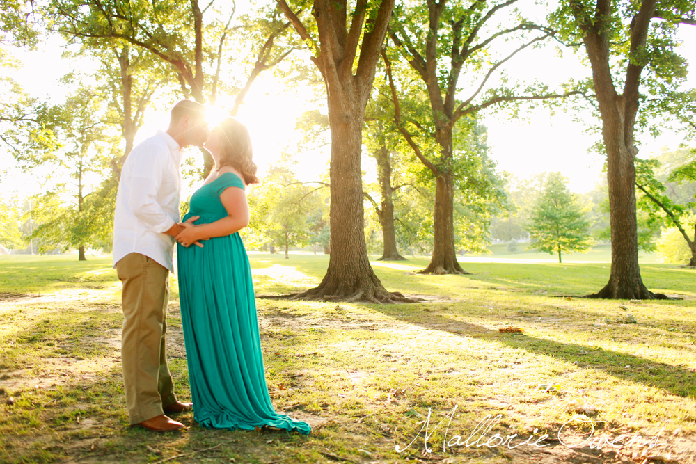 Sunset Maternity Session | Mallorie Owens Photography