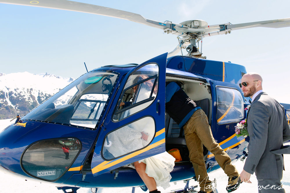 Helicopter to Mendenhall Glacier in Juneau, Alaska | MALLORIE OWENS