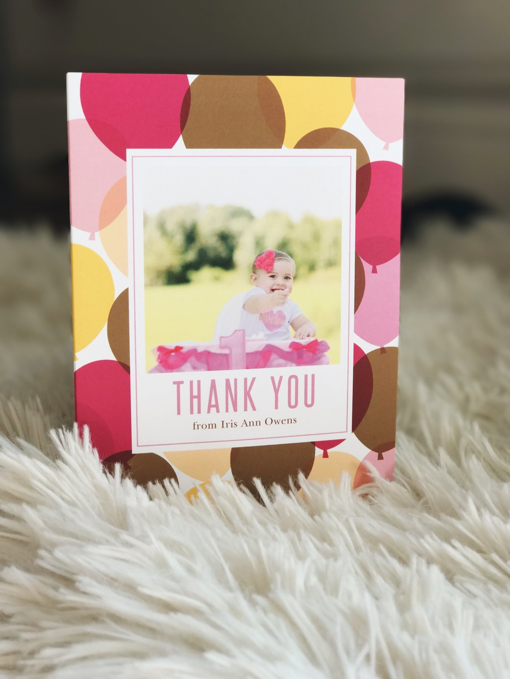 Basic Invite Custom Thank You Cards