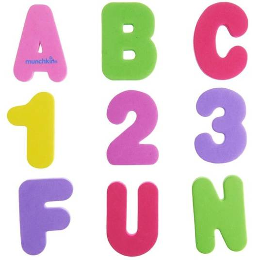 Munchkin Bath Numbers and Letters
