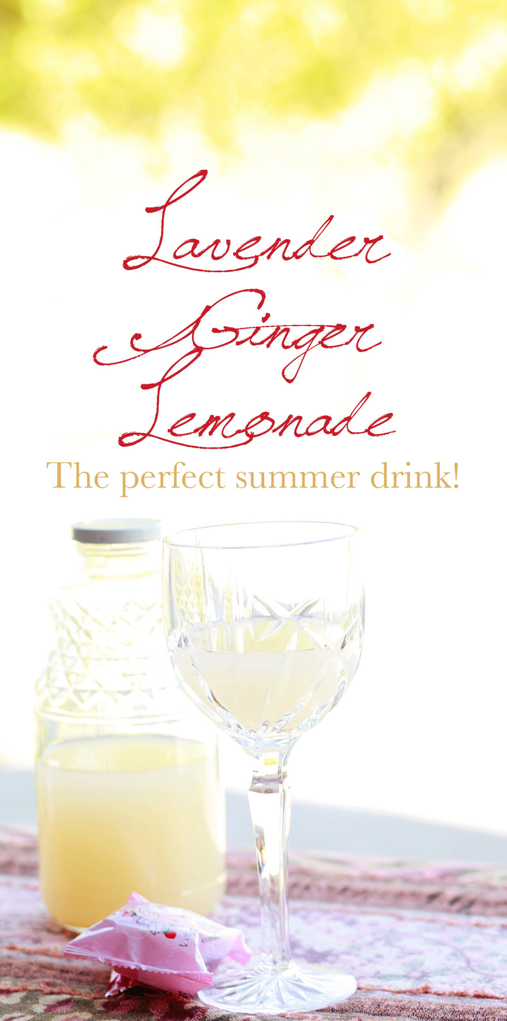 Lavender Ginger Lemonade Summer Cocktail Recipe | MALLORIE OWENS