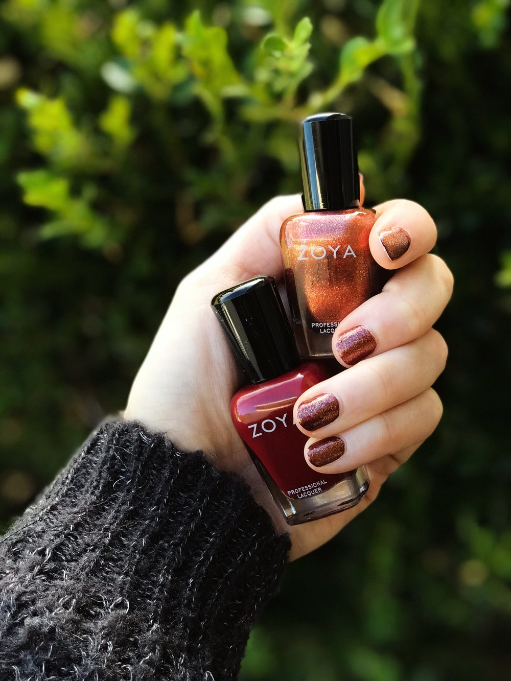 Zoya Autumn Nail Polish Sparkle Topper over Alyssa | MALLORIE OWENS