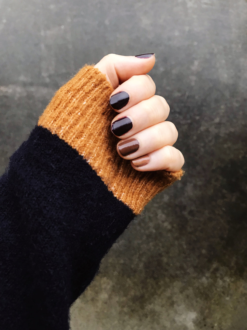 Fall Ombre Non Toxic Manicure | Mallorie Owens