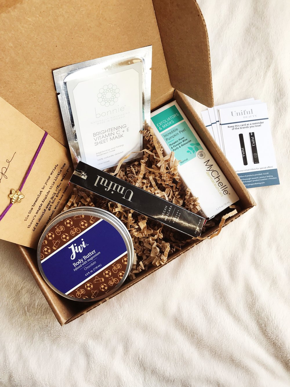 December Goodbeing Beauty Subscription Box | Mallorie Owens