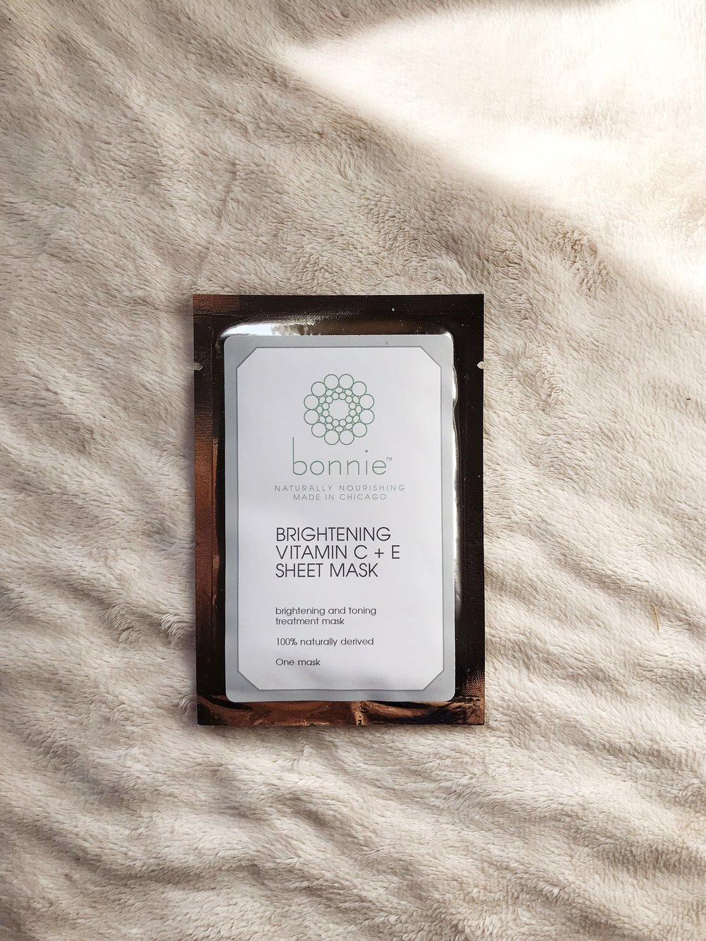 Bonnie Brightening Vitamin C + E Sheet Mask | Non Toxic Beauty | Mallorie Owens