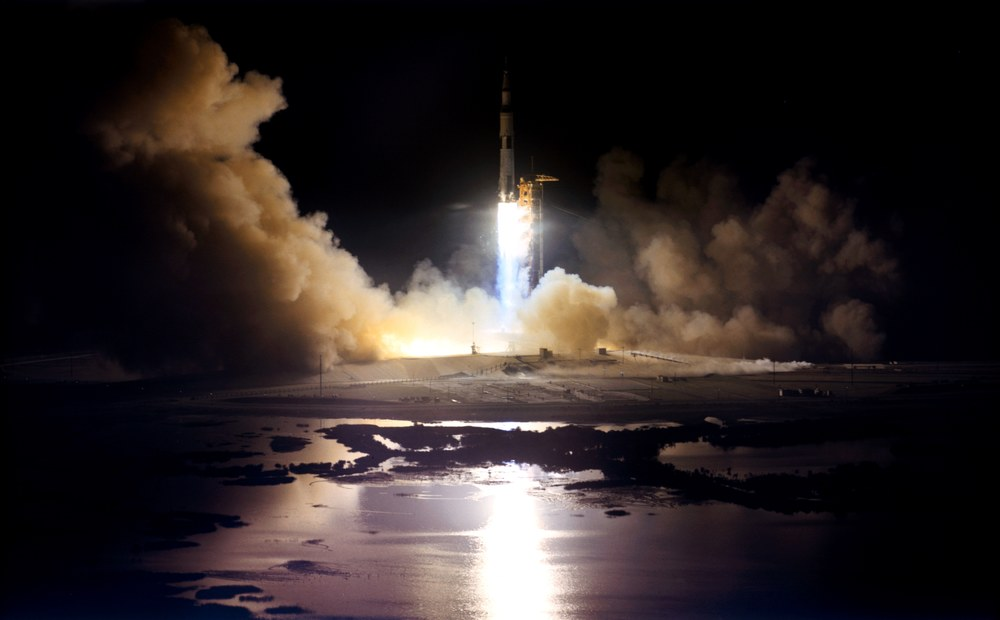 The dramatic and beautiful launch of Apollo 17 on humanity's last Apollo moon mission. It was also the first and only night time launch of the Apollo program.