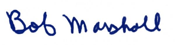 bob marshall signature