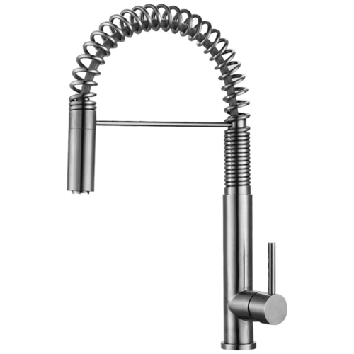 Astini Albano Pullout Rinse Stainless Steel Kitchen Sink Mixer Tap