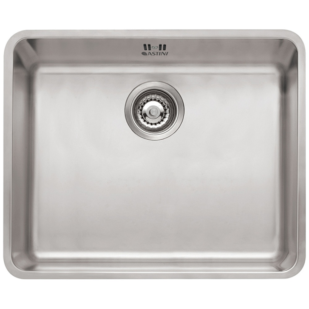 Astini Serena 1.0 Bowl Brushed Stainless Steel Undermount Sink AS5040 U2014  Astini