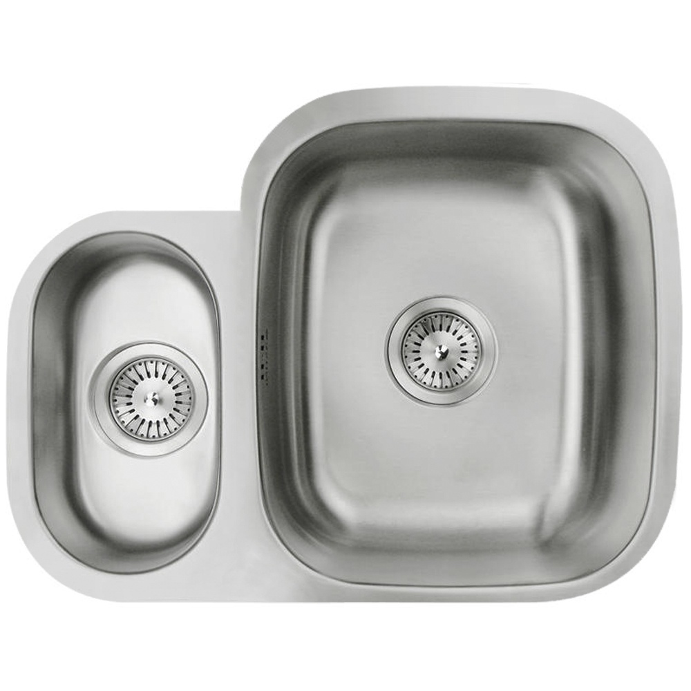 Astini Renzo 1.5 Bowl Brushed Stainless Steel Undermount Sink AS609 ...