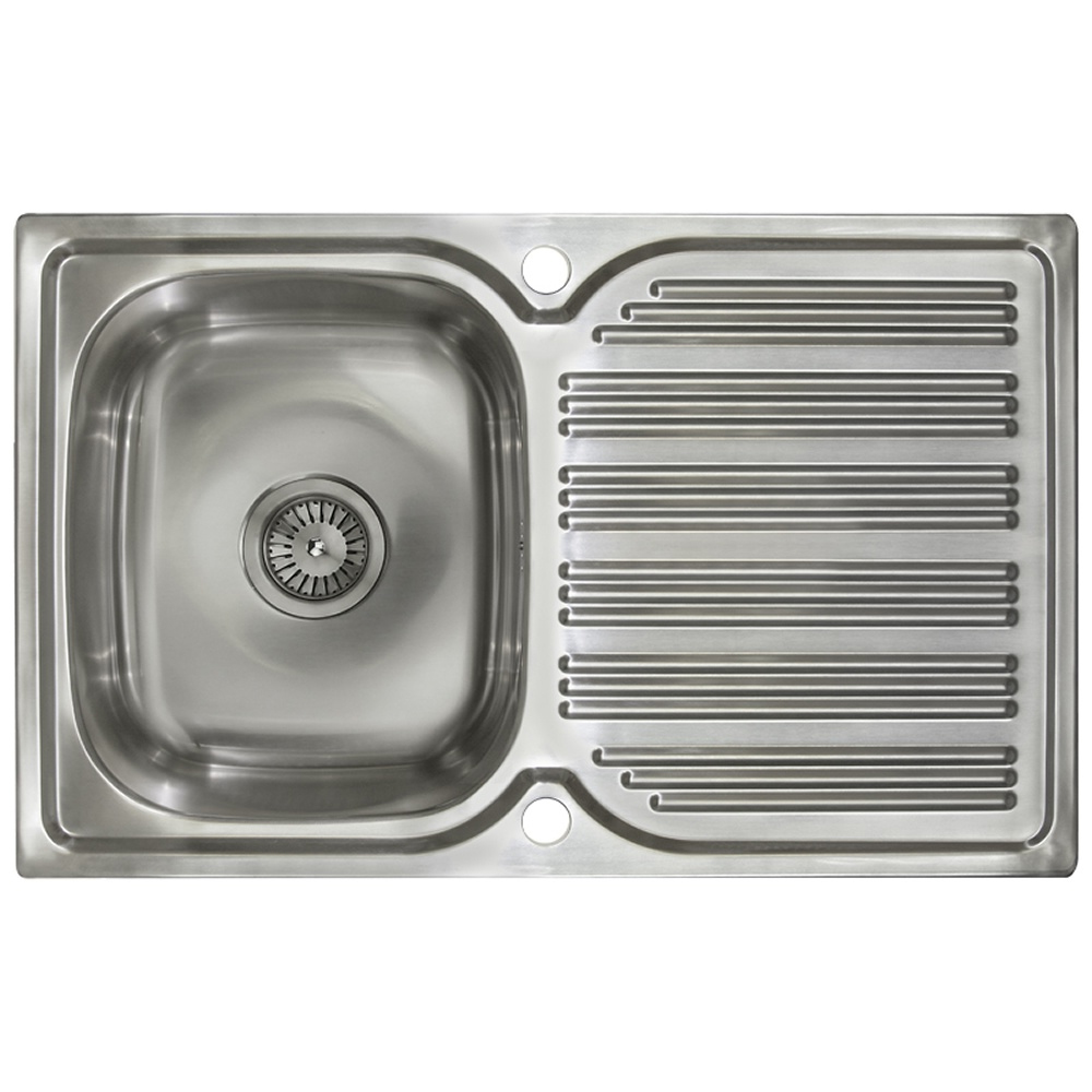 Astini Sergio 1.0 Bowl Brushed Stainless Steel Kitchen Sink AS4339 ...