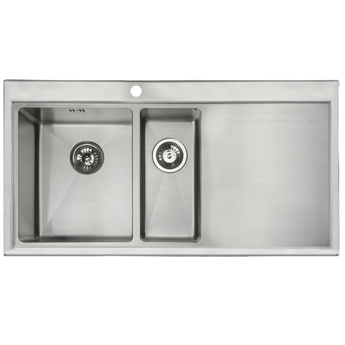 Astini Vittore 1.5 Bowl Brushed Stainless Steel Kitchen Sink AS751 ...