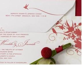 Floral wedding invitations l'oiseau