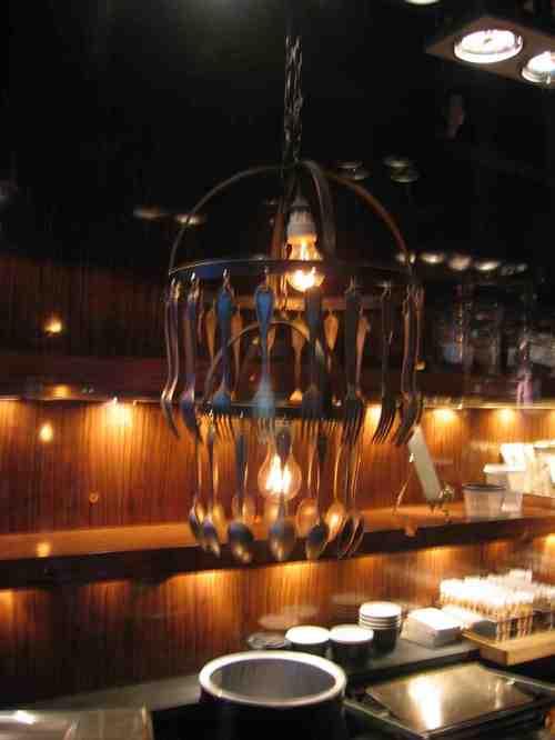 Napket fork chandelier