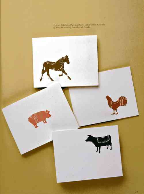 Pancake & Franks Letterpress Greeting Cards
