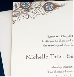 Antoinette Peacock Wedding Invitation