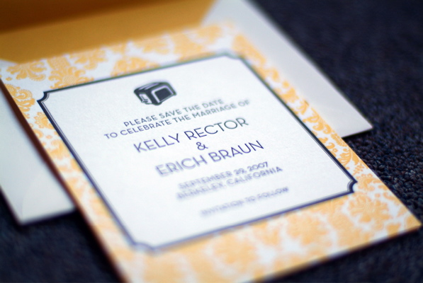Kelly & Erich's Letterpress Save the Date