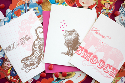 Hello!Lucky Letterpress Valentine's Cards