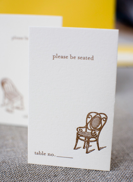 PLease be seated seating card