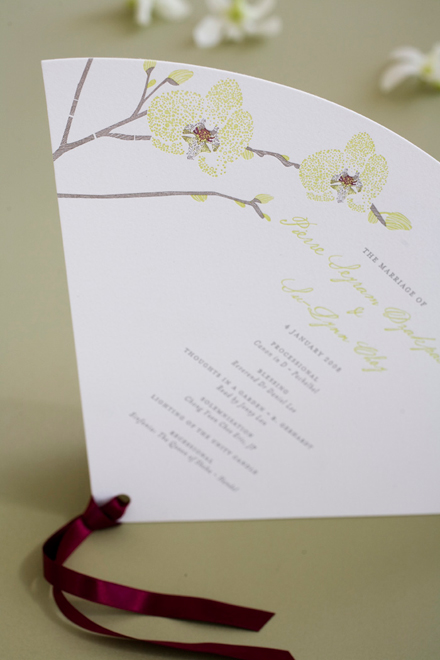 Choy Fan Wedding Program