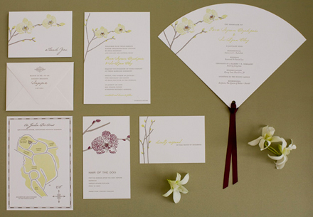 Orchid Wedding Invitation Set
