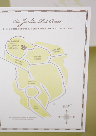Orchid Wedding Invitation Map