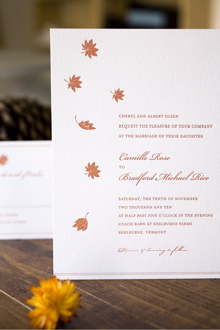 Marry Me! Letterpress Wedding Invitations