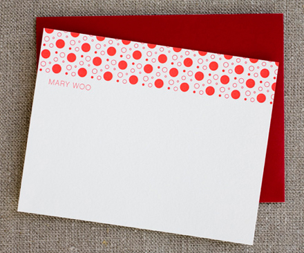 Dots Personalized Stationery