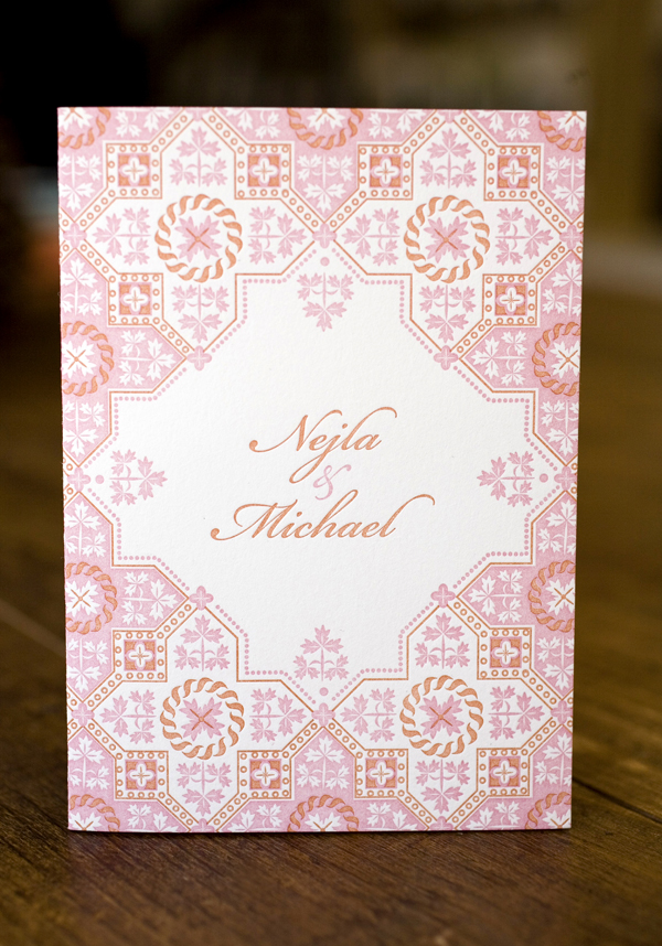 Petra wedding invitation
