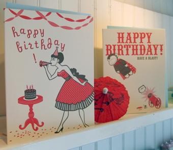 Birthday card display