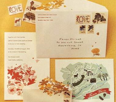 Vintage Stamps Lena Corwin