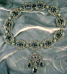 Marie Antoinette Sapphire and Diamond necklace
