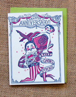 Going strong anniversary card