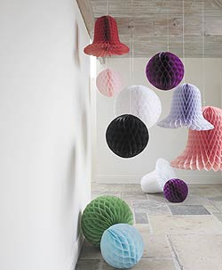Paper balls and bells