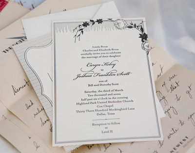 French Deco Invitation