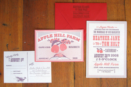 apple farm invitations