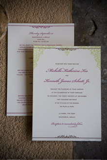 Hello!Lucky Letterpress Wedding Invitation