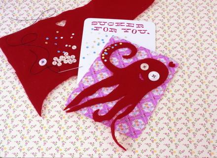 Fuzzy Octopus Card