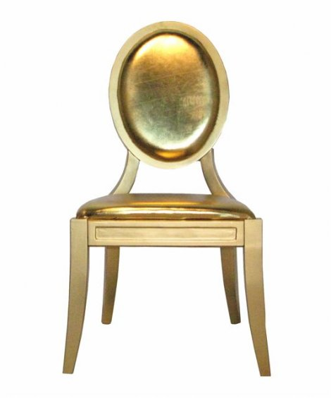 Glam gold chair