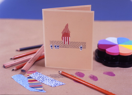 Thumbprint card by The Small Object