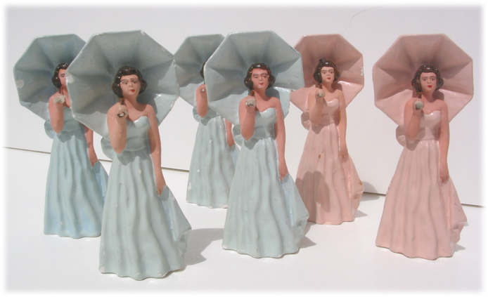 Parasol Vintage Cake Toppers
