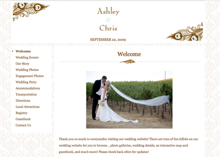 Antoinette Wedding Website