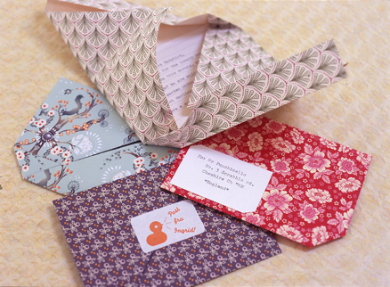 Origami Self-Mailing Note