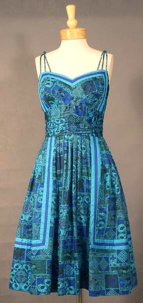 Teal & Cobalt Dress