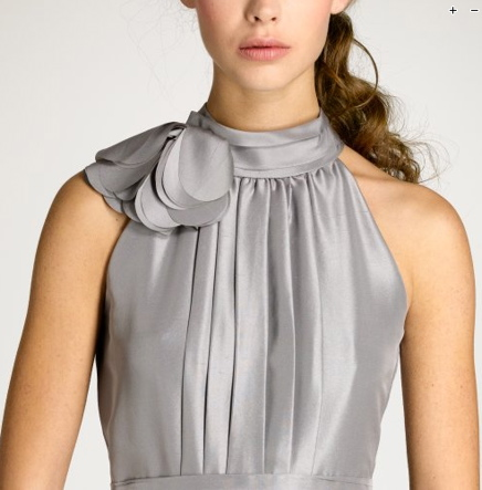 Grey dress detail